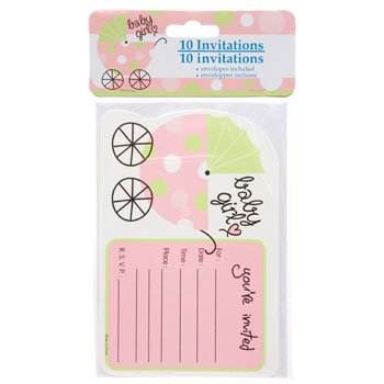 Baby shower emporium page 5 of 8 your one stop shop for all your party baby shower invitations with envelopes 10 ct packs baby girl pink filmwisefo